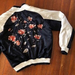 🌷 silence + noise floral bomber jacket 🌷